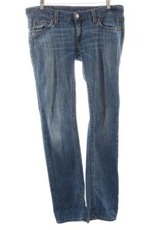 Herrlicher Straight-Leg Jeans blau-wollweiß Washed-Optik
