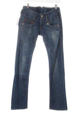 Herrlicher Straight-Leg Jeans dunkelblau Washed-Optik