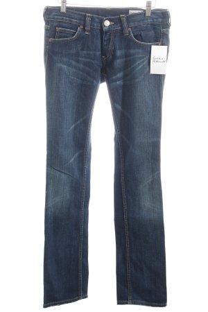 Herrlicher Straight-Leg Jeans dunkelblau-wollweiß Casual-Look