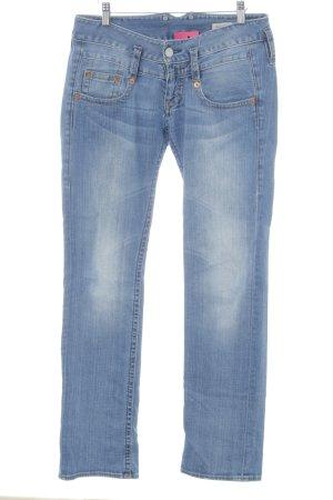 Herrlicher Straight-Leg Jeans graublau Jeans-Optik