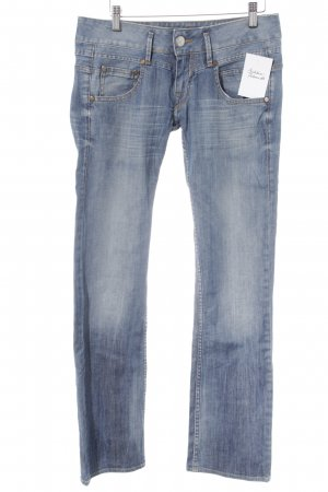 Herrlicher Straight-Leg Jeans hellblau Washed-Optik