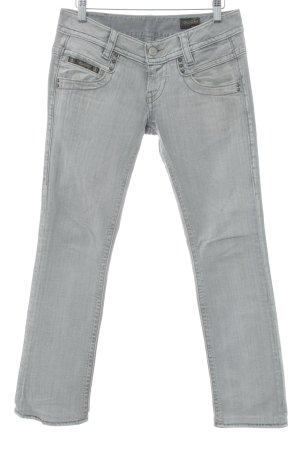 Herrlicher Straight-Leg Jeans hellgrau Washed-Optik