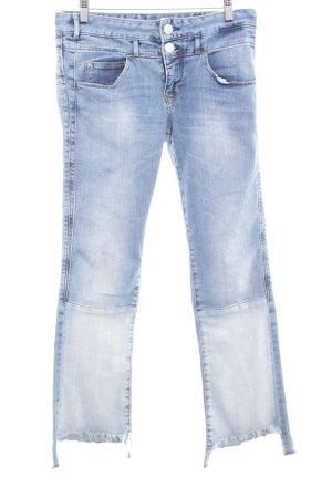 Herrlicher Jeans a gamba dritta azzurro-blu fiordaliso look pulito
