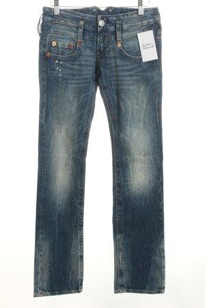 """Herrlicher Straight-Leg Jeans """"Pitch"""" blau"""