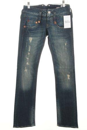 """Herrlicher Straight-Leg Jeans """"Pitch"""" dunkelblau"""