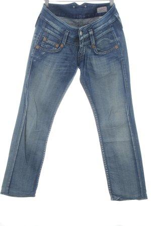 Herrlicher Straight-Leg Jeans stahlblau Vintage-Look