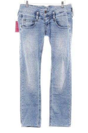 Herrlicher Jeans elasticizzati blu stile casual