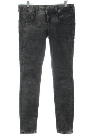 Herrlicher Stretch Jeans schwarz-grau Bleached-Optik