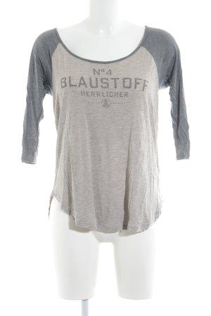 Herrlicher Sweat Shirt grey-beige themed print casual look