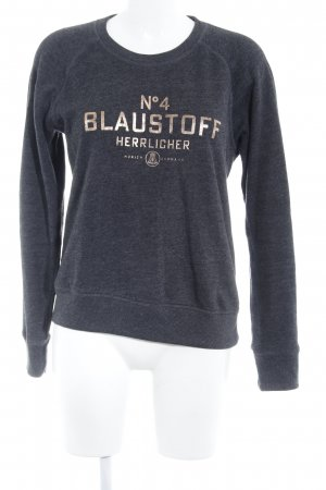 Herrlicher Sweatshirt taupe Schriftzug gedruckt Casual-Look