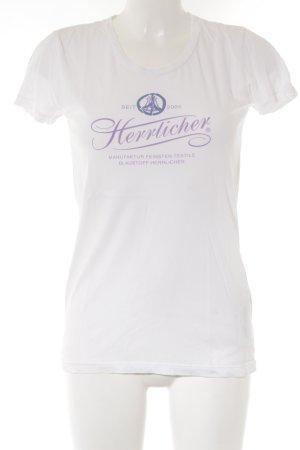 Herrlicher T-Shirt weiß Motivdruck Casual-Look