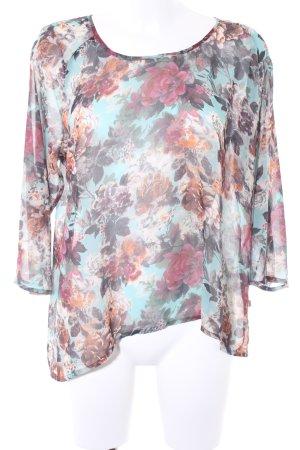 Herrlicher Transparenz-Bluse Blumenmuster Elegant