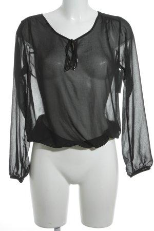 Herrlicher Transparenz-Bluse schwarz Elegant