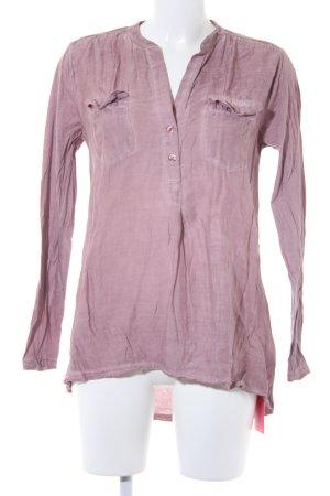 Herrlicher V-Ausschnitt-Pullover blasslila Casual-Look