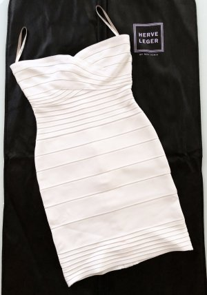 HERVE LEGER Bandagen Kleid Weiß