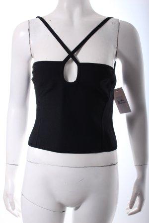 Hervé léger Corsage topje zwart extravagante stijl