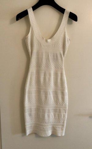 Hervé léger Vestido de tubo blanco puro-beige claro