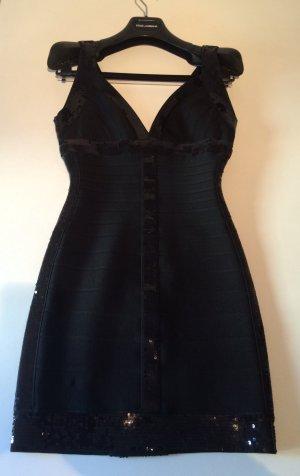 Herve Leger kleid ,schwarz mit palietten,kurz und figurbetont in xs