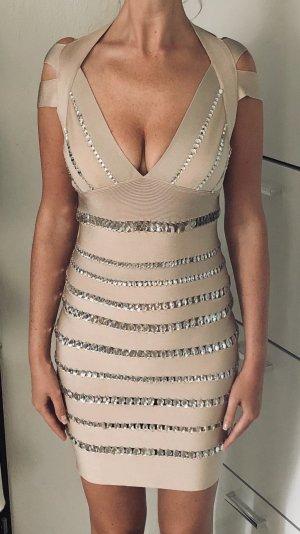 Hervé Léger Nude Bandage Dress S M 36 / 38 NEU