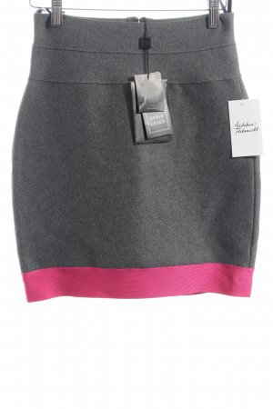 Hervé léger Strickrock grau-magenta schlichter Stil