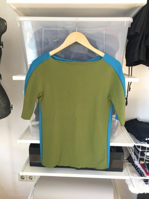 COS Long Sleeve Blouse neon blue-grass green viscose