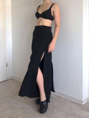 Hervorragende schwarze breite Hose von COS mit Schlitzen