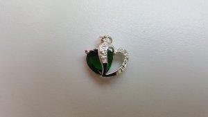 Pendant silver-colored-green