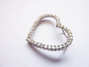 Necklace light grey-white real silver
