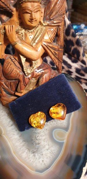Orecchino a clip giallo-oro-arancione chiaro
