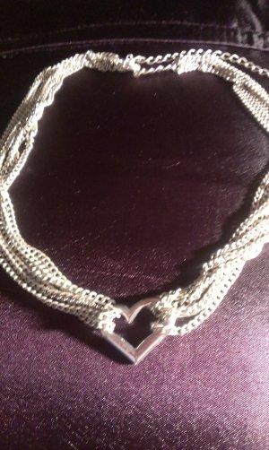Herz Collier mit  passendem Armband