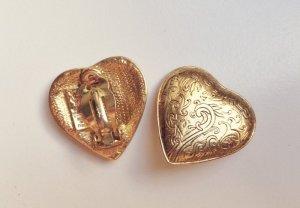 Herz-Ohrclips (gold)