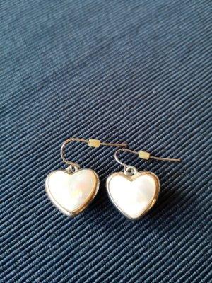 Herz Ohrhänger Perlmutt