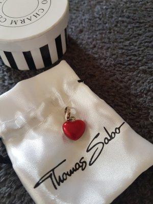 Thomas Sabo Ciondolo rosso scuro Argento
