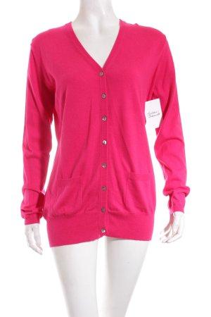 Herzblick Strick Cardigan pink klassischer Stil