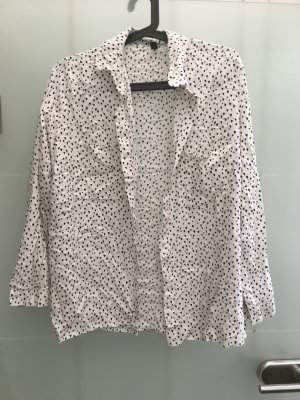 H&M Camicetta a maniche lunghe bianco-nero
