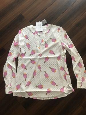 Herzensangelegenheit Bluse Tunika mit rosa Eis, neu, Gr 40/42, Seide