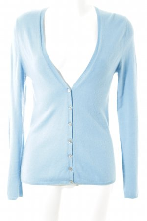 Herzensangelegenheit Cardigan cornflower blue simple style