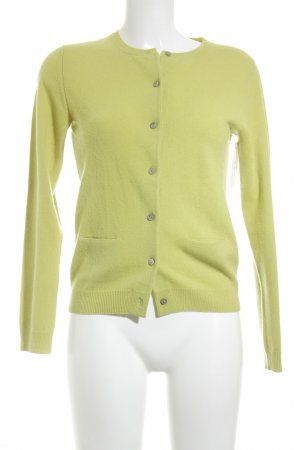 Herzensangelegenheit Cardigan giallo lime stile casual