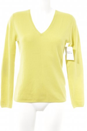 Herzensangelegenheit Pullover in cashmere giallo lime stile casual
