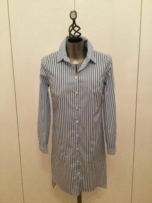 Herzensangelegenheit Shirtwaist dress azure-white cotton