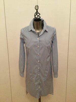 Herzensangelegenheit Abito blusa camicia azzurro-bianco Cotone