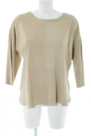 Herzensangelegenheit Leather Blouse natural white business style