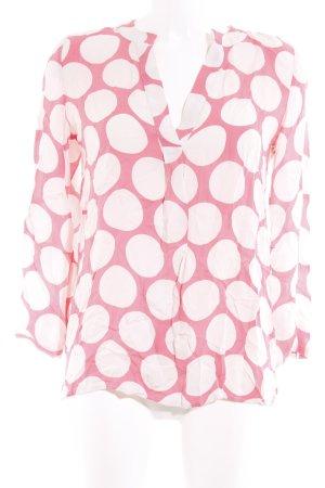 Herzensangelegenheit Seidenbluse weiß-rosa Punktemuster