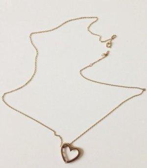 Herzhalskette aus 375 Gold mit Diamant