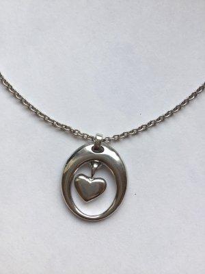 Herzkette aus 925 Silber