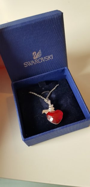 Swarovski Necklace silver-colored-red