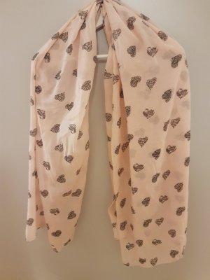 Pañoleta gris-rosa claro