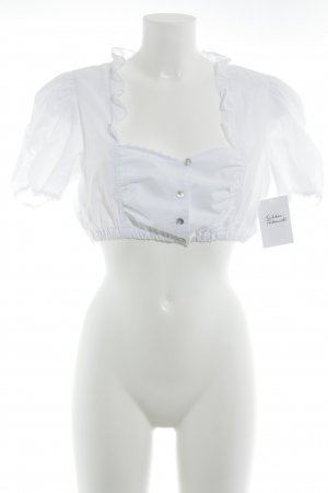 Hess Frackmann Traditional Blouse white Crochet detail