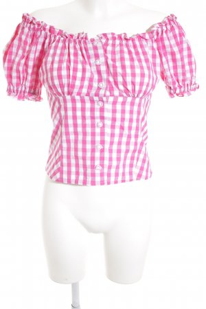 Hess Frackmann Traditional Blouse white-pink check pattern classic style