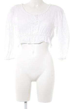 Hess Frackmann Blusa tradizionale bianco Bottoni in tessuto
